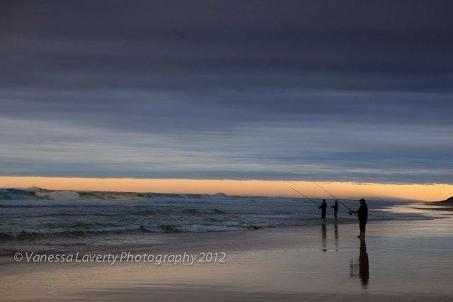 Sunset fishing on Fraser Island