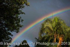Rainbow over Lake Placid Tourist Park