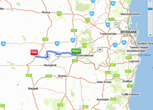 Goondiwindi to Dirranbandi (Nindigully doesn't show up on Whereis)